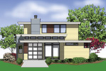 Contemporary House Plan Color Image of House - Juno Modern Home 011D-0266 | House Plans and More