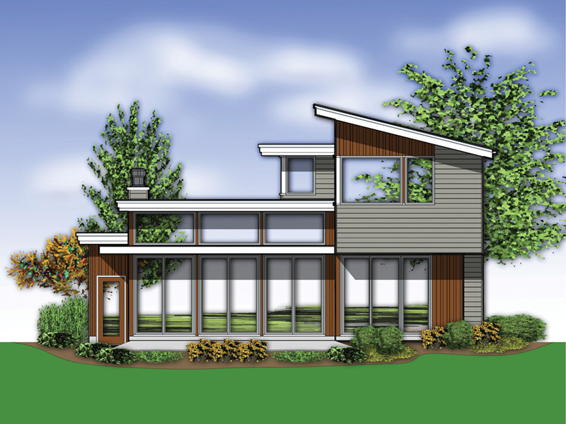 Vacation House Plan Rear Photo 02 - Heika Modern Home  011D-0267 | House Plans and More