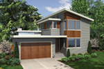 Vacation House Plan Side View Photo 01 - Heika Modern Home  011D-0267 | House Plans and More