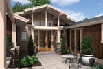 Mountain Home Plan Entry Photo 01 - Sunny Top Craftsman Home 011D-0273 | House Plans and More