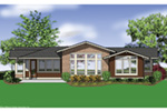 Mountain Home Plan Color Image of House - Sunny Top Craftsman Home 011D-0273 | House Plans and More