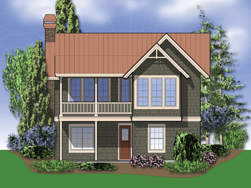 Rear Photo 01 -  011D-0285 | House Plans and More