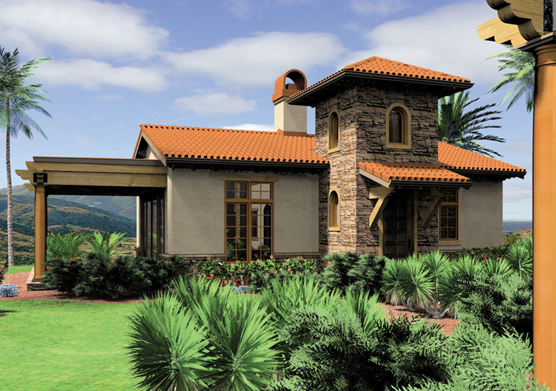 Florida House Plan Front of Home - Alfredo Lago Italian Home 011D-0291 | House Plans and More