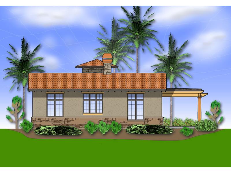 Florida House Plan Rear Photo 01 - Alfredo Lago Italian Home 011D-0291 | House Plans and More