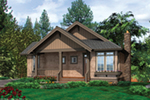 Cabin & Cottage House Plan Front of Home - Nolan Hill Shingle Home 011D-0292 | House Plans and More