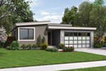 Vacation House Plan Front of Home - Rocco Modern Ranch Home  011D-0304 | House Plans and More