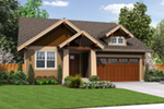 Bungalow House Plan Front of Home - Holbrook Craftsman Home 011D-0307 | House Plans and More