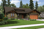 Craftsman House Plan Front Image - Sawyer Creek Craftsman Home  011D-0308 | House Plans and More