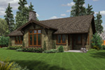 Craftsman House Plan Rear Photo 03 - Sawyer Creek Craftsman Home  011D-0308 | House Plans and More