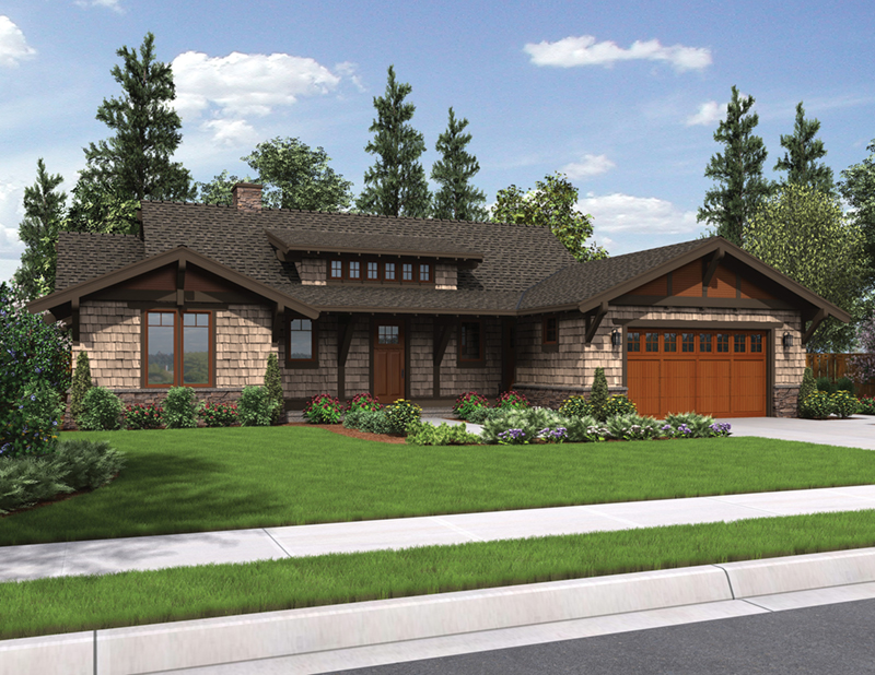 Mountain Home Plan Front Image - Fabito Rustic Prairie Home 011D-0311 | House Plans and More