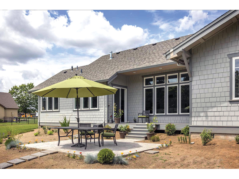Mountain Home Plan Patio Photo - Fabito Rustic Prairie Home 011D-0311 | House Plans and More