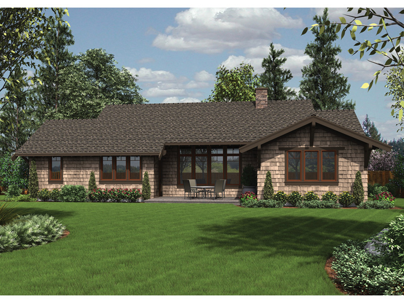 Country House Plan Rear Photo 03 - Fabito Rustic Prairie Home 011D-0311 | House Plans and More
