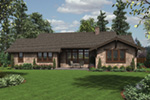 Mountain Home Plan Rear Photo 03 - Fabito Rustic Prairie Home 011D-0311 | House Plans and More