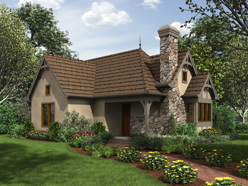Country French House Plan Front Image - Robbin English Cottage Home 011D-0313 | House Plans and More