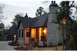 Country French House Plan Front Night Photo 01 - Robbin English Cottage Home 011D-0313 | House Plans and More