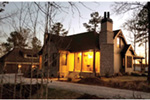 Country French House Plan Front Night Photo 02 - Robbin English Cottage Home 011D-0313 | House Plans and More