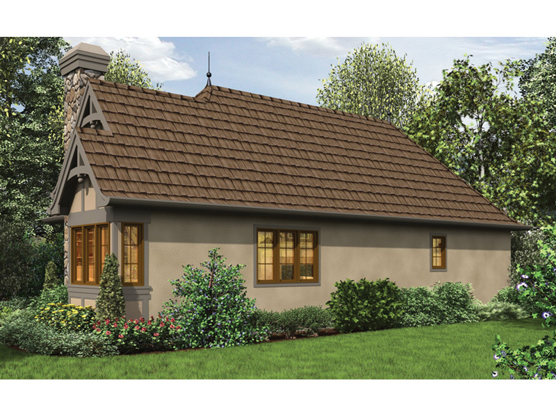 Country French House Plan Side View Photo - Robbin English Cottage Home 011D-0313 | House Plans and More