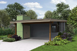 Ranch House Plan Front Photo 01 - Tate Modern Home 011D-0314 | House Plans and More