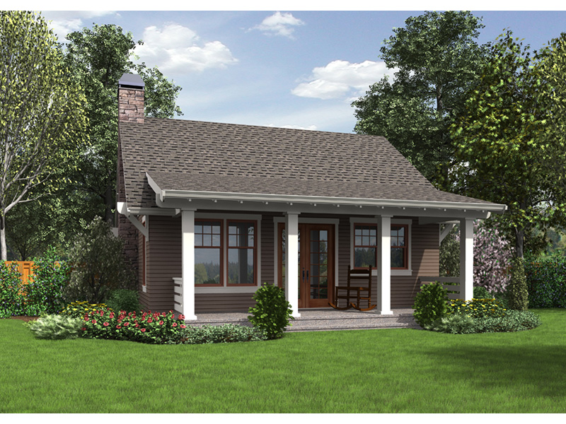 Ranch House Plan Rear Photo 01 - Willowdale Bungalow Home 011D-0315 | House Plans and More
