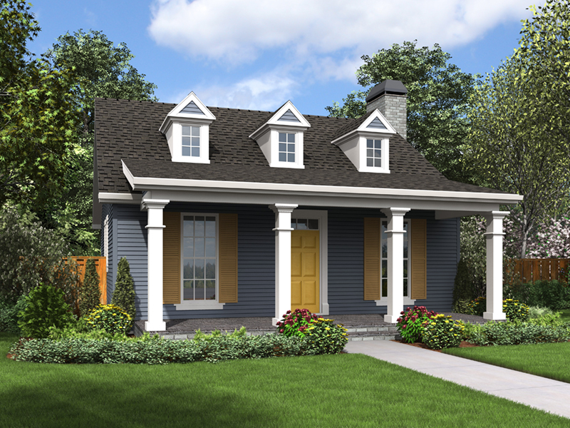 Georgian House Plan Front of Home - Shaker Lane Small Home 011D-0316 | House Plans and More