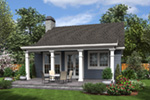 Southern House Plan Rear Photo 01 - Shaker Lane Small Home 011D-0316 | House Plans and More