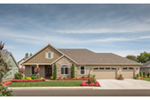 Traditional House Plan Front of Home - Saxon Ridge Country Home  011D-0327 | House Plans and More