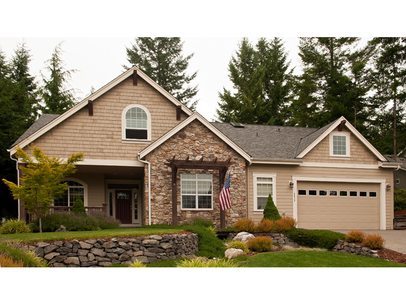 Traditional House Plan Front Photo 01 - Saxon Ridge Country Home  011D-0327 | House Plans and More