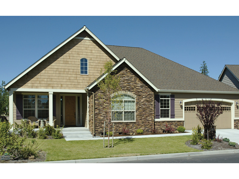 Traditional House Plan Front Photo 07 - Saxon Ridge Country Home  011D-0327 | House Plans and More