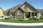 Traditional House Plan Front Photo 08 - Saxon Ridge Country Home  011D-0327 | House Plans and More