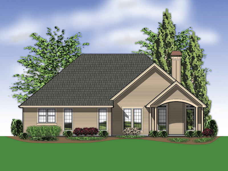 Traditional House Plan Rear Photo 01 - Saxon Ridge Country Home  011D-0327 | House Plans and More