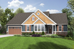 Arts & Crafts House Plan Front of Home - Elm Creek Craftsman Home  011D-0328 | House Plans and More