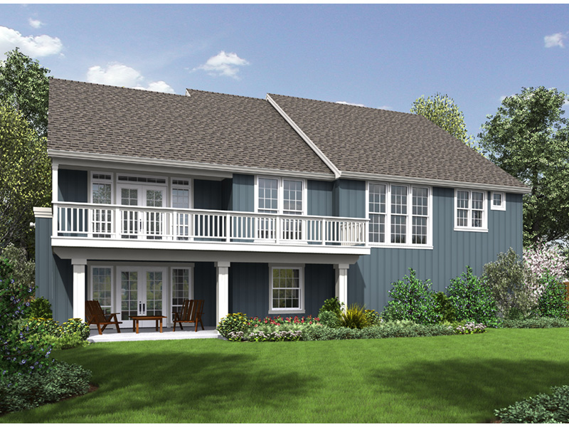 Arts & Crafts House Plan Rear Photo 01 - Elm Creek Craftsman Home  011D-0328 | House Plans and More