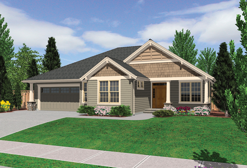 Shingle House Plan Front Image - Overlake Craftsman Home 011D-0330 | House Plans and More