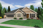 Ranch House Plan Front Image - Overlake Craftsman Home 011D-0330 | House Plans and More