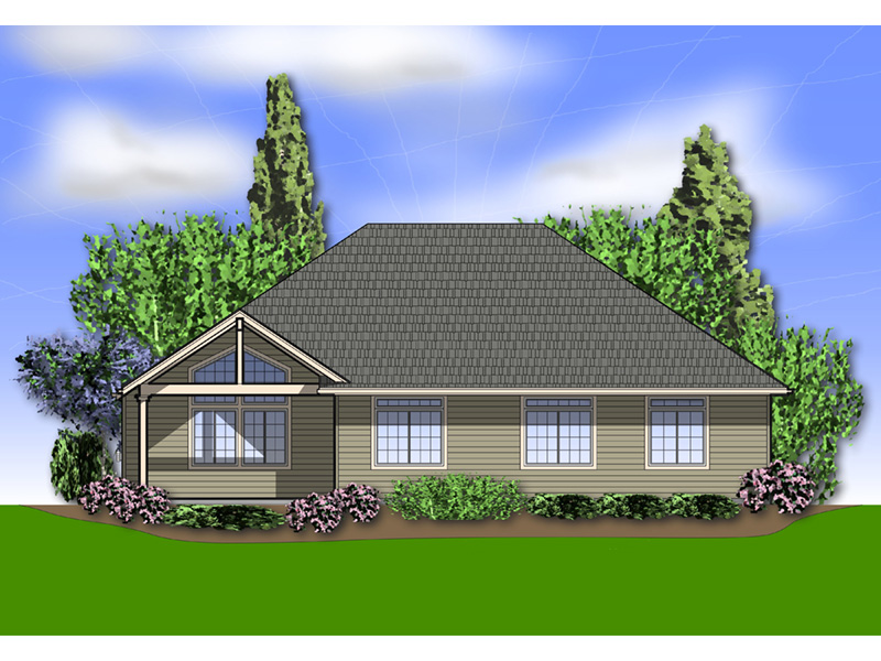 Shingle House Plan Rear Photo 01 - Overlake Craftsman Home 011D-0330 | House Plans and More