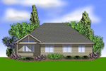 Ranch House Plan Rear Photo 01 - Overlake Craftsman Home 011D-0330 | House Plans and More