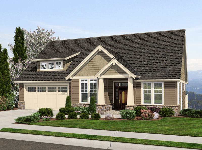 Rustic Home Plan Front of Home - Chamblee Craftsman Home 011D-0340 | House Plans and More