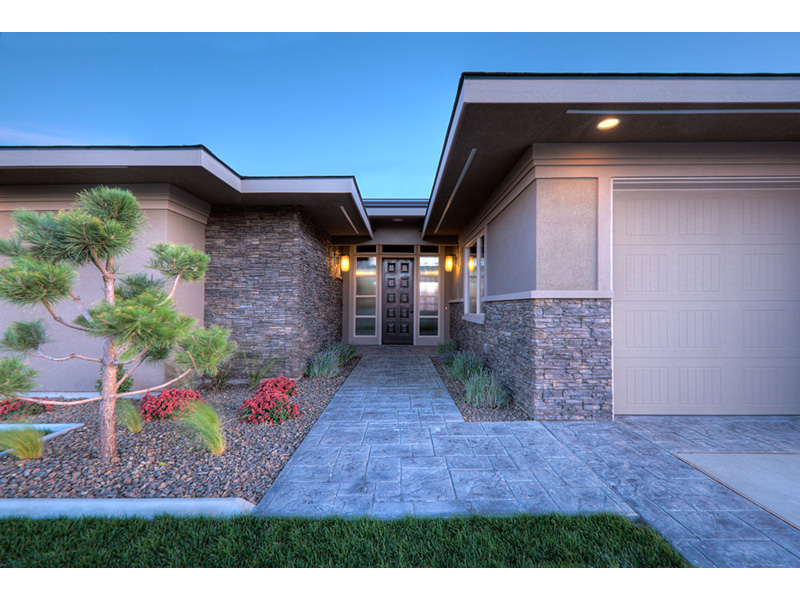 Modern House Plan Entry Photo 02 - Eton Sound Contemporary Home  011D-0341 | House Plans and More