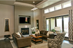 Modern House Plan Family Room Photo 01 - Eton Sound Contemporary Home  011D-0341 | House Plans and More