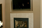 Modern House Plan Fireplace Photo 01 - Eton Sound Contemporary Home  011D-0341 | House Plans and More