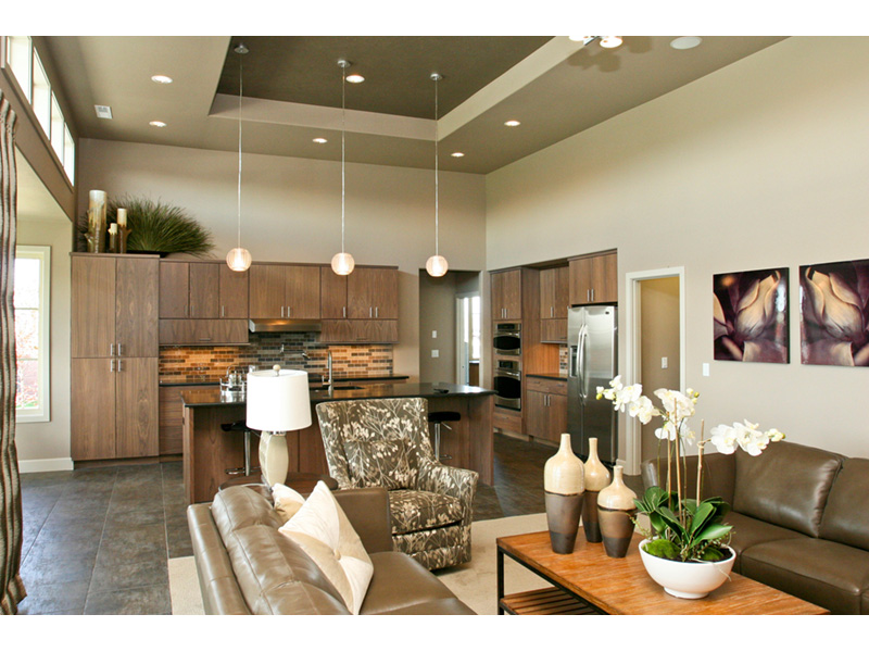 Modern House Plan Great Room Photo 01 - Eton Sound Contemporary Home  011D-0341 | House Plans and More