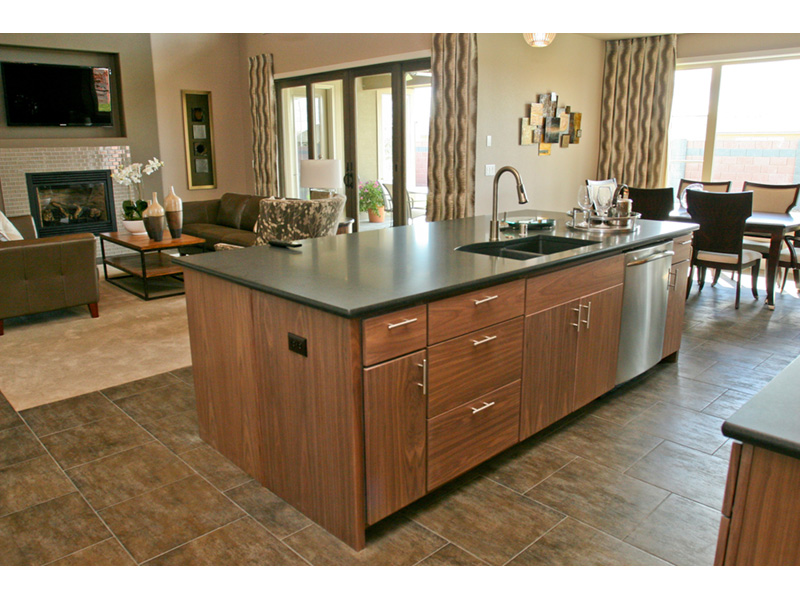 Modern House Plan Kitchen Photo 03 - Eton Sound Contemporary Home  011D-0341 | House Plans and More