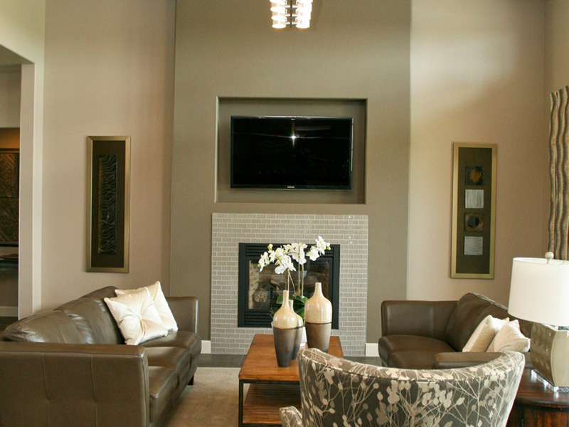 Modern House Plan Living Room Photo 02 - Eton Sound Contemporary Home  011D-0341 | House Plans and More