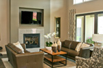 Modern House Plan Living Room Photo 03 - Eton Sound Contemporary Home  011D-0341 | House Plans and More