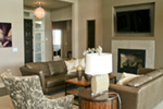 Modern House Plan Living Room Photo 05 - Eton Sound Contemporary Home  011D-0341 | House Plans and More