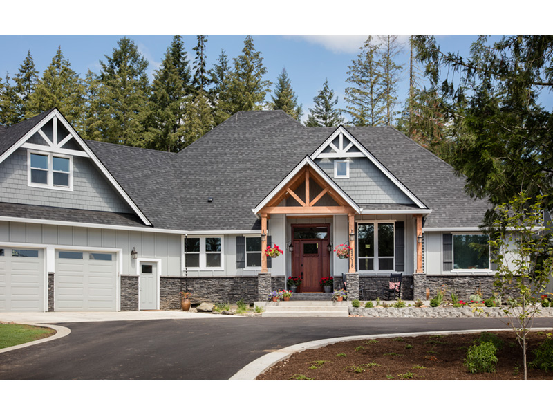 Prairie Style Floor Plan Front Photo 03 - Hyatt Contemporary Ranch Home 011D-0343 | House Plans and More