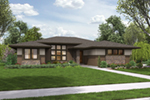 Ranch House Plan Front of Home - Flora Canyon Ranch Home  011D-0344 | House Plans and More