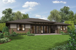 Ranch House Plan Rear Photo 01 - Flora Canyon Ranch Home  011D-0344 | House Plans and More