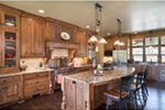 Shingle House Plan Kitchen Photo 01 - Leigh Lane Rustic Country Ranch House | House Plans and More