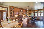 Shingle House Plan Kitchen Photo 02 - Leigh Lane Rustic Country Ranch House | House Plans and More